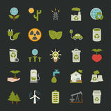 Green eco icons set , Royalty Free Stock Photos