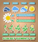 Green eco infographic elements Royalty Free Stock Photography