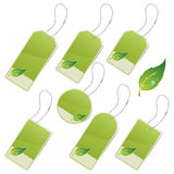 Green eco labels Stock Photos