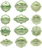 Green eco labels Royalty Free Stock Image