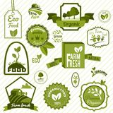Green eco labels Stock Photography