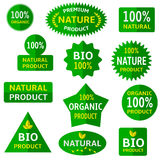 Green eco labels Royalty Free Stock Photos