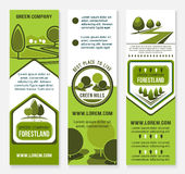 Green eco landscape design company vector banners Stock Photography
