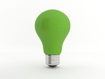 Green eco light bulb Royalty Free Stock Photos