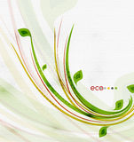 Green eco nature minimal floral concept. | flying leaves | nature flying leaves template Stock Images