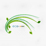 Green eco nature minimal floral concept. | flying leaves | nature flying leaves template Royalty Free Illustration