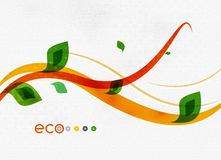 Green eco nature minimal floral concept Stock Photo