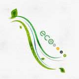 Green eco nature minimal floral concept Royalty Free Stock Photo