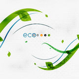 Green eco nature minimal floral concept Royalty Free Stock Photos