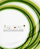 Green eco nature wave background Stock Images