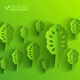 Green eco neture tree vector illustration Stock Images