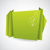 Green eco origami paper Royalty Free Stock Image