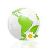 Green eco planet concept vector illustration Royalty Free Stock Photos