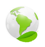 Green eco planet concept vector illustration Stock Image