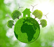 Green eco planet. Stock Photos
