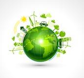Green Eco Planet Stock Photos