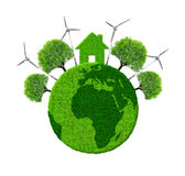 Green eco planet Stock Photography