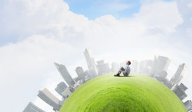 Green eco planet Stock Photo