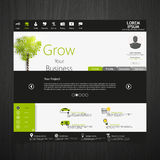 Green eco professional website vector illustration