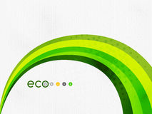 Green eco rainbow on textile texture Royalty Free Stock Image