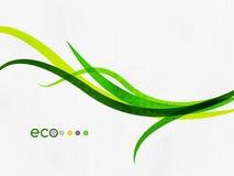 Green eco rainbow on textile texture Stock Photos