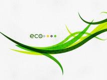 Green eco rainbow on textile texture Stock Image