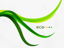Green eco rainbow on textile texture Royalty Free Stock Photo
