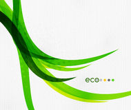 Green eco rainbow on textile texture Royalty Free Stock Photography