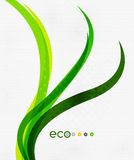 Green eco rainbow on textile texture Stock Images