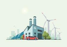 Green Eco Recycling Factory Stock Photography