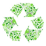 Green eco recycling symbol Stock Photo