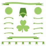 Green eco ribbons set of St. Patrick Day Royalty Free Stock Photos