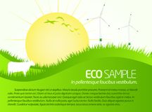 Green eco sample scenery Stock Image