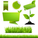Green Eco Set Stock Photography