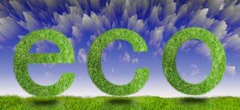Green eco sign Royalty Free Stock Photos