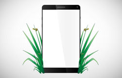 Green Eco smart phone Royalty Free Stock Image
