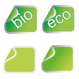 Green eco stickers Stock Image
