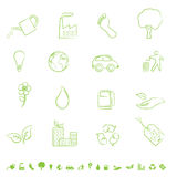 Green Eco Symbols Royalty Free Stock Photo