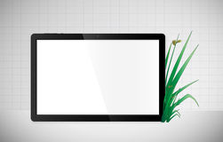 Green Eco tablet Royalty Free Stock Images