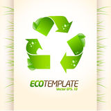 Green eco template Royalty Free Stock Photography