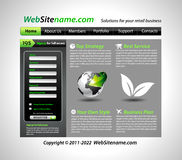 GREEN eco themed website template Stock Photos
