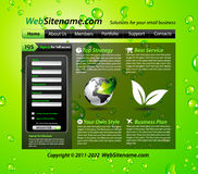 GREEN eco themed website template Royalty Free Stock Image