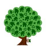Green eco tree. Vector illustration of a green Eco tree Stock Photo