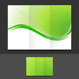 Green eco trifold template illustration Stock Photos
