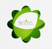Green eco unusual background concept - flowers Royalty Free Stock Photography