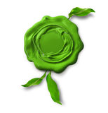Green eco warranty seal Royalty Free Stock Images
