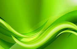 Green eco wave Stock Photos
