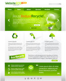 Green eco web template layout Royalty Free Stock Photos