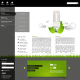 Green eco website layout template Stock Photos