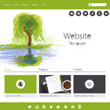 Green eco website Stock Photography